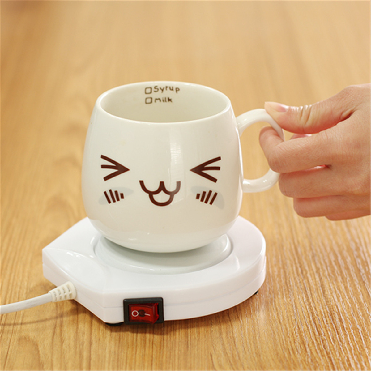 220v White Electric Powered Cup Warmer Heater Pad Coffee ...