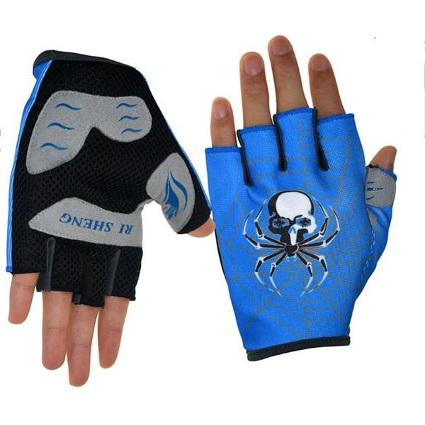 RI SHENG MTB Mountain Motocross Cycling Glove Bike Bicycle Sports Antiskid Half Finger Gloves