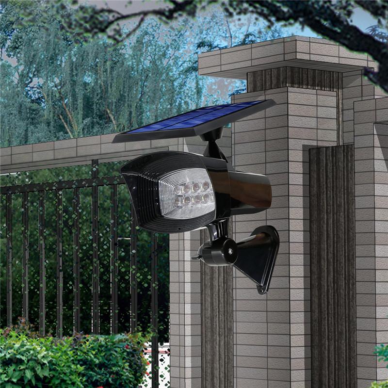 Battery Powered Outdoor Lights Nz: 8 LED Pure White Solar Spot Light Outdoor Garden Lawn