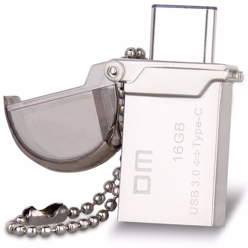 DM PD019 16GB 32GB Mini Type-C 3.1 OTG USB 3.0 Flash Drive Dual Double Plug Pen Drive