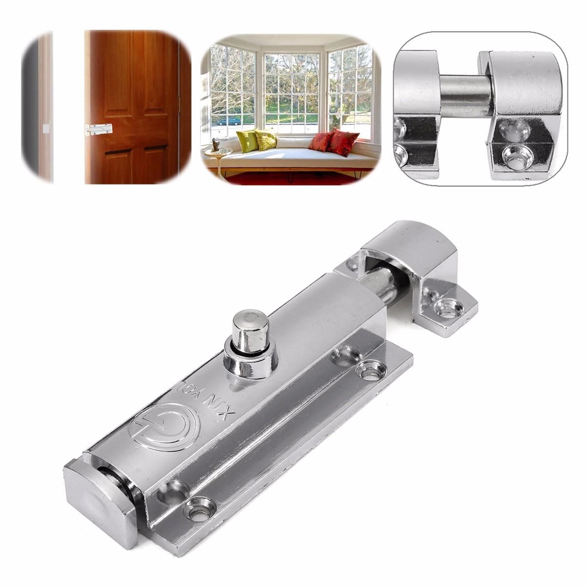 Zinc alloy chrome plated security door bolt lock open type for Door bolt lock