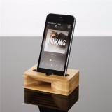 Universal Wooden Phone Stand Amplifier Mobile Bracket Lazy Holder for under 5.5-inch Smartphone
