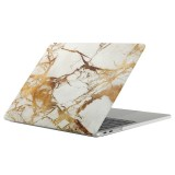 For 2016 New Macbook Pro 13.3 inch A1706 & A1708 Beige White Gold Texture Marble Pattern Laptop Water Decals PC Protective Case