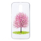 For Motorola Moto G4 Noctilucent Cherry Tree Pattern IMD Workmanship Soft TPU Back Cover Case