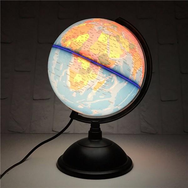 20cm led world globe earth tellurion atlas map rotating. Black Bedroom Furniture Sets. Home Design Ideas