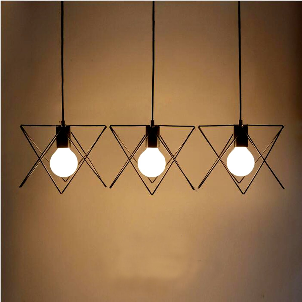 3 in 1 metal vintage ceiling light pendant lamp cage for Metal hanging lights