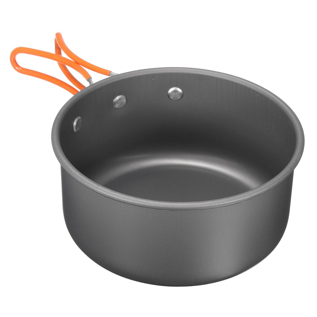 8pcs Camping Aluminum Pot Bowl Portable Outdoor Picnic