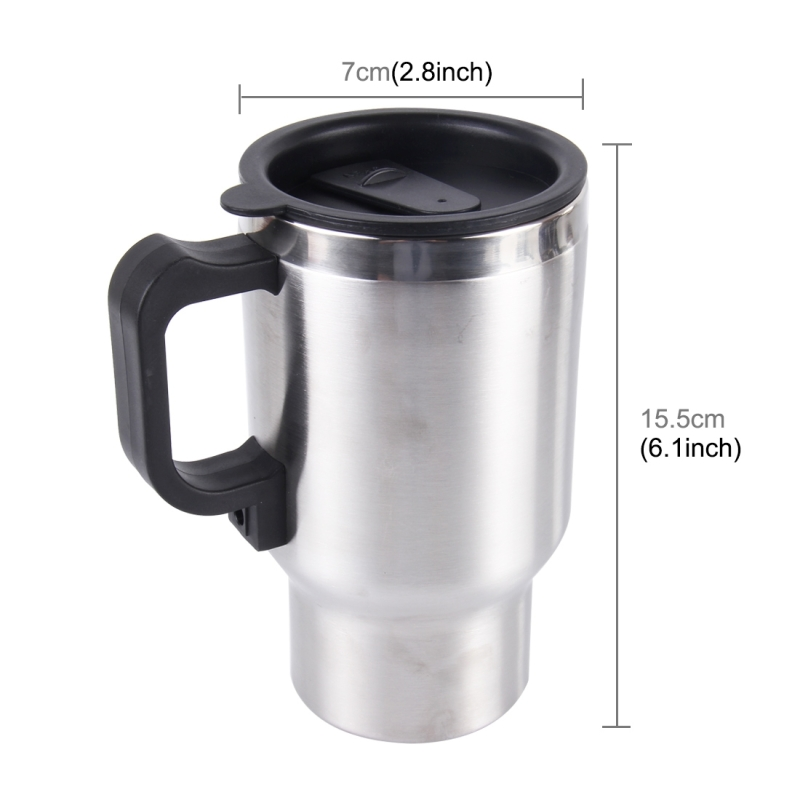 1afa1b3d3d2d6ddb1d Coffee Heater Stainless Steel Electric Smart Mug V Car Electric Kettle Heated Mug Car Coffee Cup With