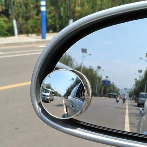 2 PCS Car Blind Spot Rear View 360 Degree Angle Adjustable Wide Angle Mirror, Diameter: 5cm