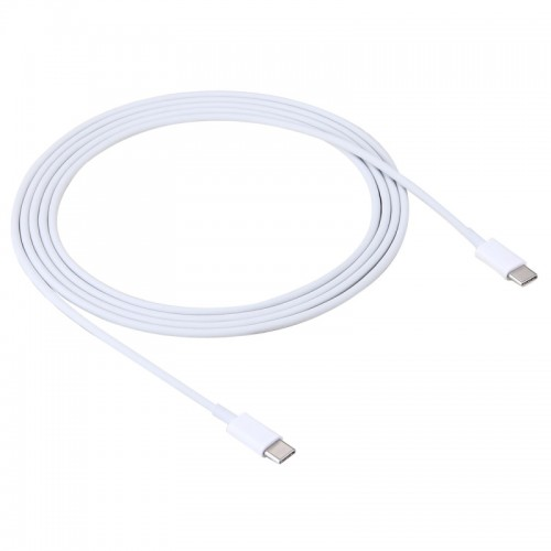 2m 2A USB 3.1 Type-C Male to USB 3.1 Type-C Male Adapter Cable for Google & LG & Huawei & Nokia & Microsoft & Xiaomi & OnePlus & Letv & Meizu (White)