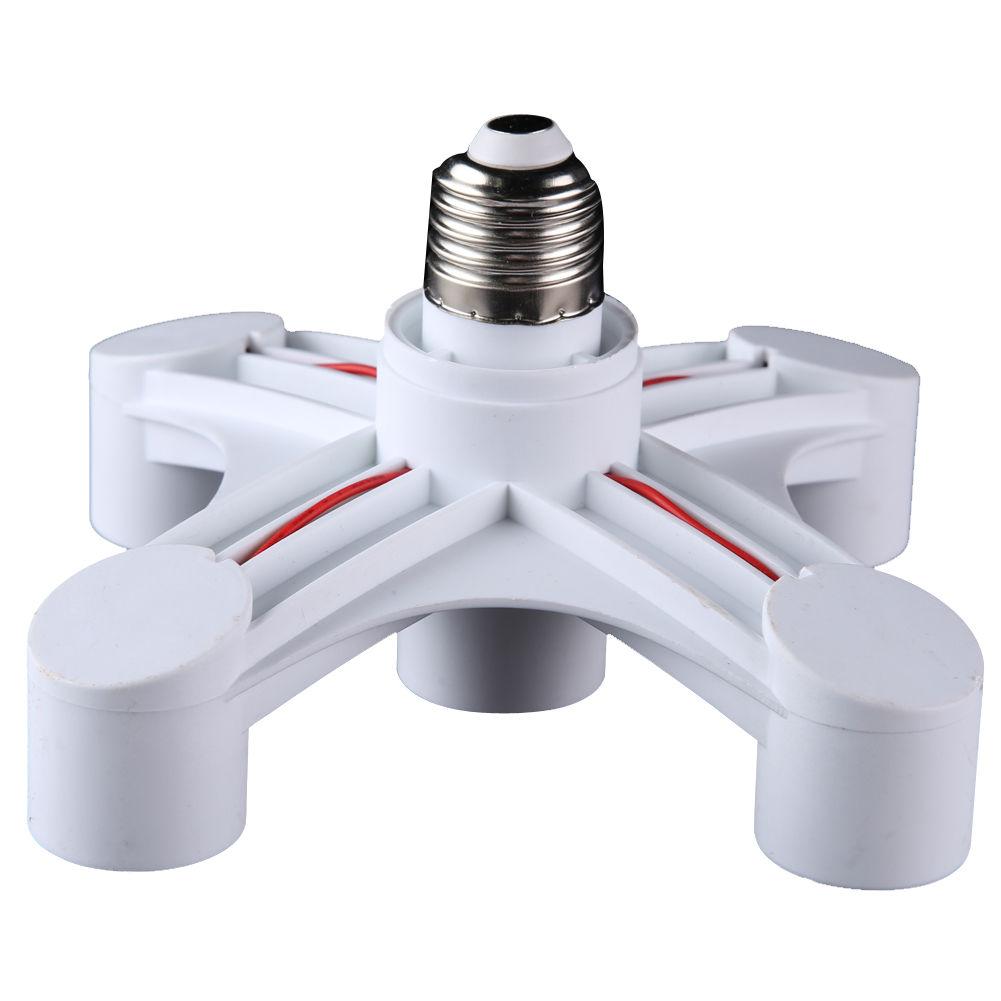 5 In 1 E27 To E27 Base Socket Splitter Led Light Lamp Bulb