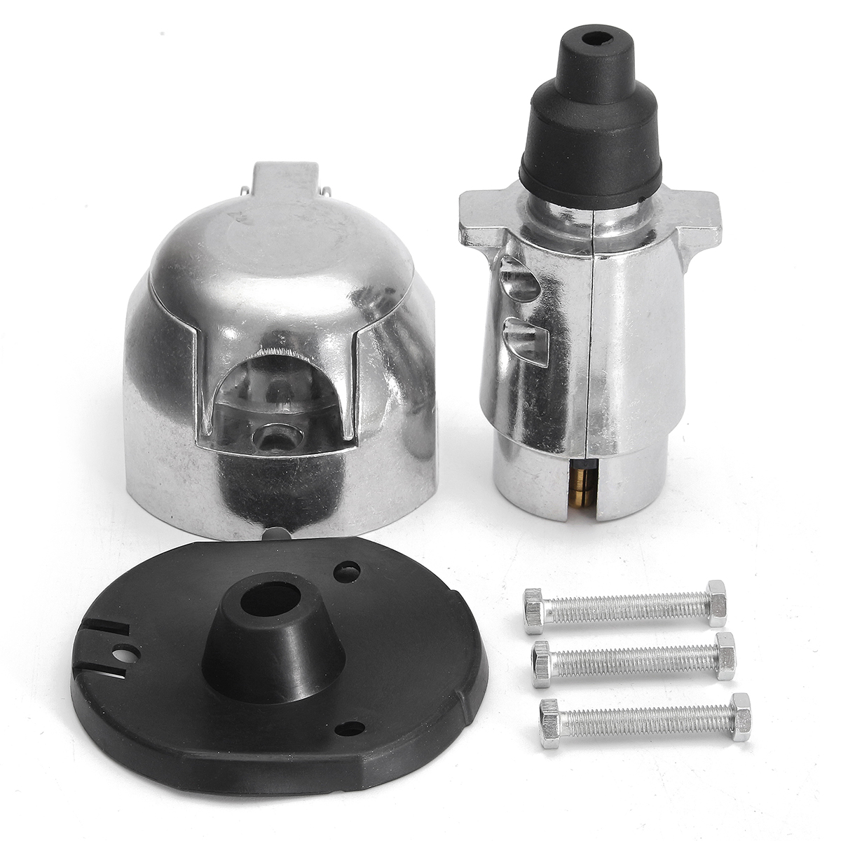 12n 7 Pin Metal Towing Plug  U0026 Socket Connector Kit For