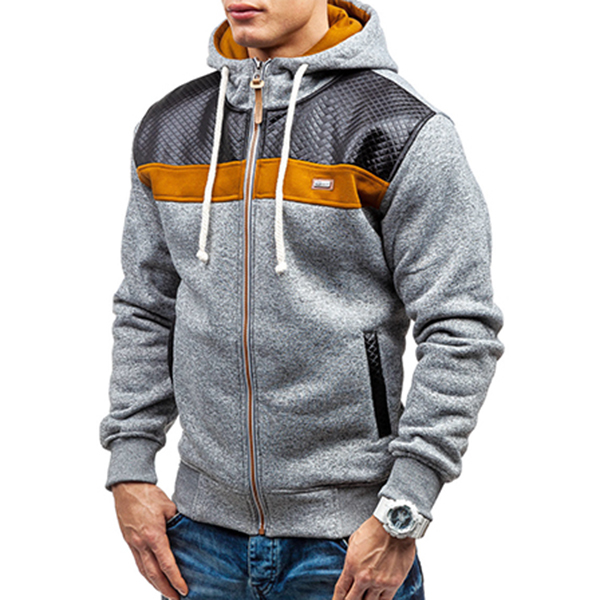 Fashion Mens Cashmere Cardigan Hoodie Sweater Casual Splicing ...