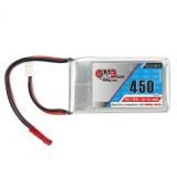 Gaoneng GNB 7.4V 450mAh 2S 80/160C Lipo Battery JST Plug