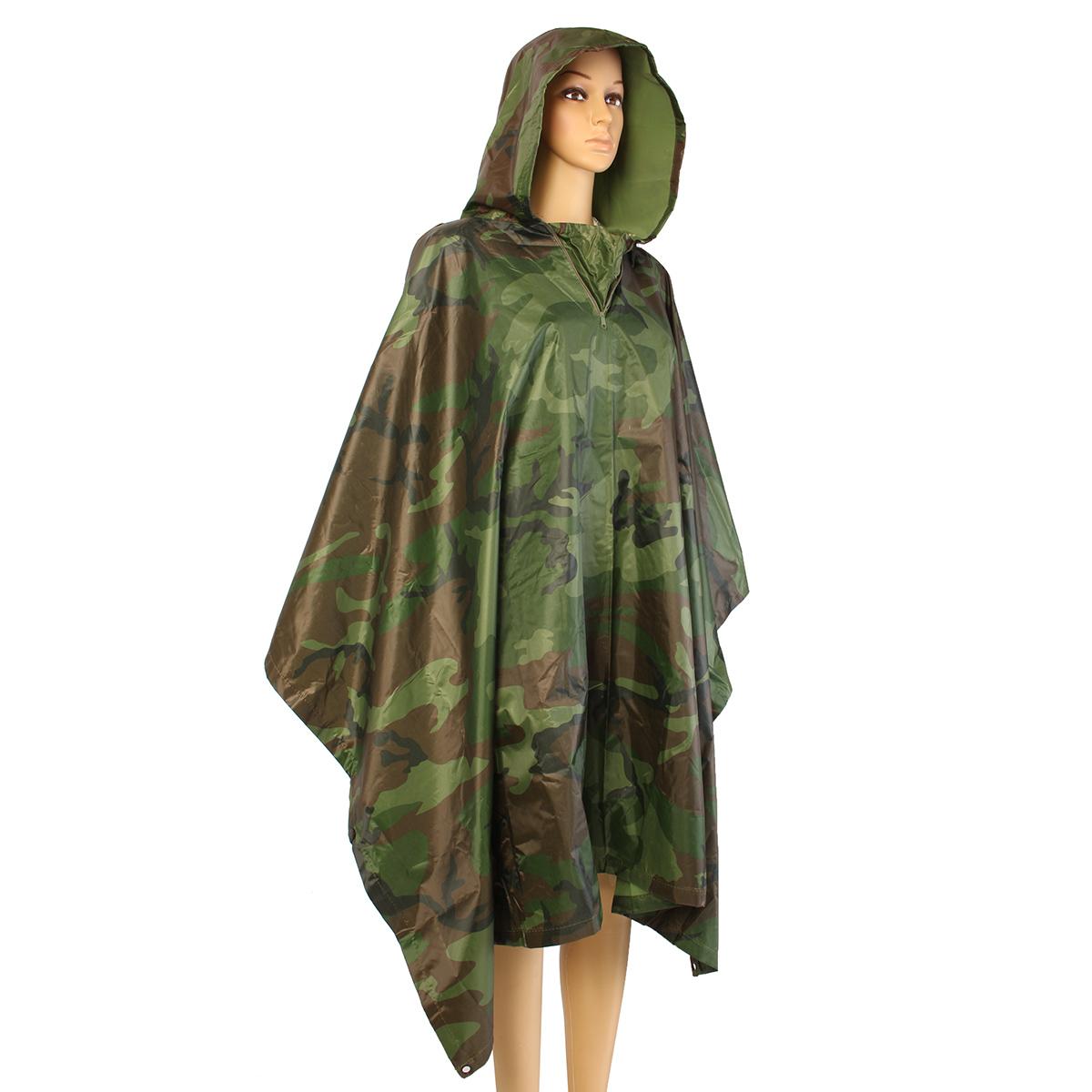 Outdoor Camping Camouflage Raincoat Waterproof Jungle