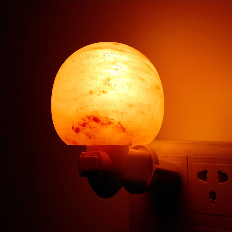Mini Cute Hand Carved Natural Crystal Himalayan Salt Night Light Wall Lamp Gift Alex NLD