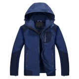 NIANJEEP Mens Outdoor Waterproof Breathable Quick-drying Jacket Casual Spring Elasticity Coat