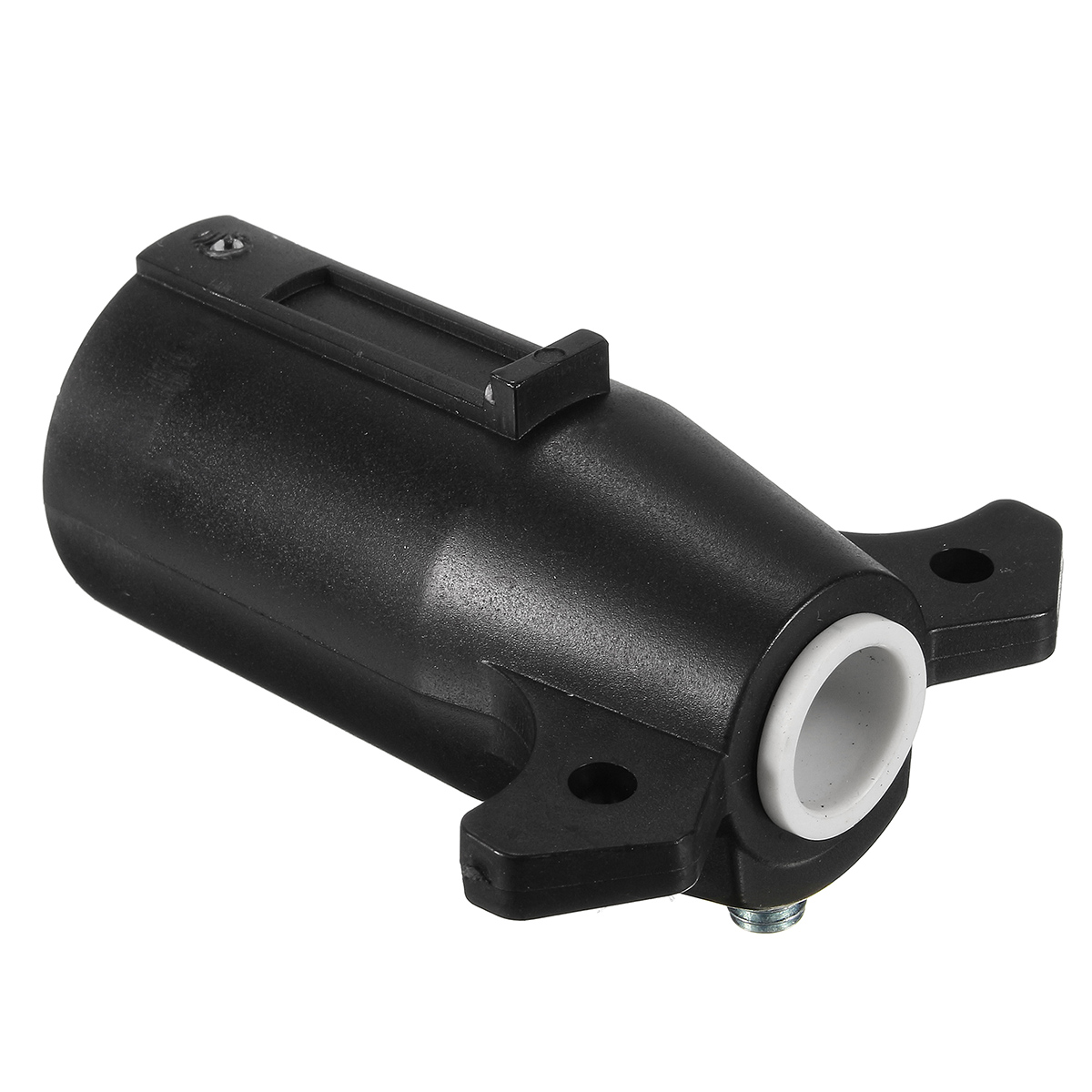 Black Round Trailer Connector 7 Poles Rv Male Light Plug 7