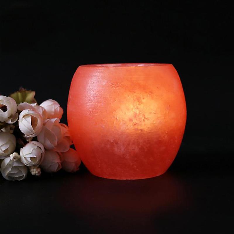 Crystal Himalayan Night Light Candle Holder Natural Salt Rock Tealight Air Purifying Table Lamp ...