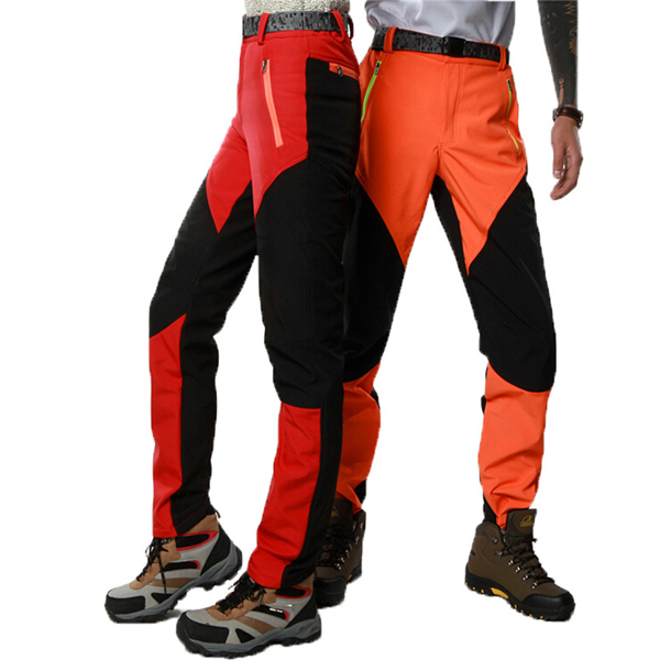 Men s Anti-UV Polar Fleece Ski Pants Waterproof Windproof ... d6d9f2e39