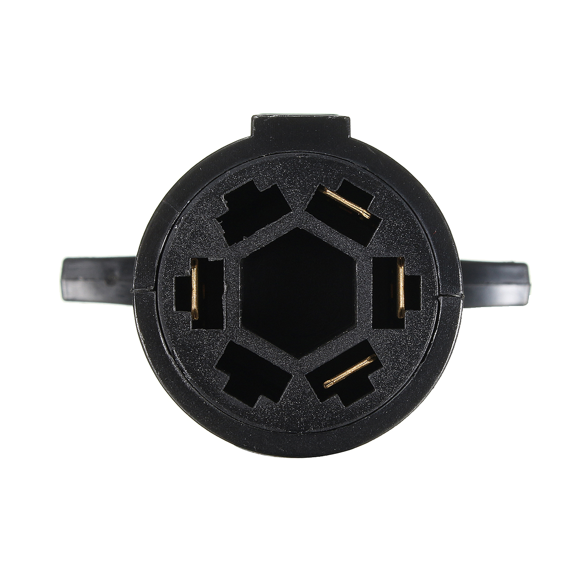 7 Way Round To 4 Pin Flat Trailer Light Adapter Plug Connector Rv Boat