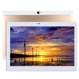 T990 3G Phone Call Tablet PC 32GB, 10.1 inch Android 5.1 MTK6592 Octa Core 1.3GHz, RAM: 2GB, Dual SIM, OTG, WiFi, BT, GPS, with Leather Case (Gold)