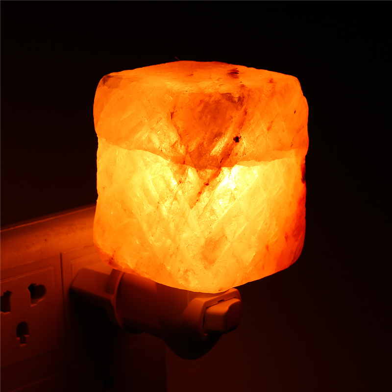 Salt Lamps Night Lights : Natural Crystal Himalayan Glow Hand Carved Crystal Salt Night Lamp Wall Light AC110-240V Alex NLD