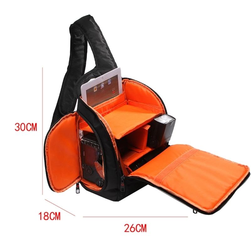 INDEPMAN DL-B011 Portable Scratch-proof Outdoor Sports Sling Shoulder Bag Chest Pack Micro Single Camera Bag Phone Bag for GoPro, SJCAM, Nikon, Canon, Xiaomi Xiaoyi YI, Apple, Samsung, Huawei, Size: 30 x 18 x 26 cm (Orange)