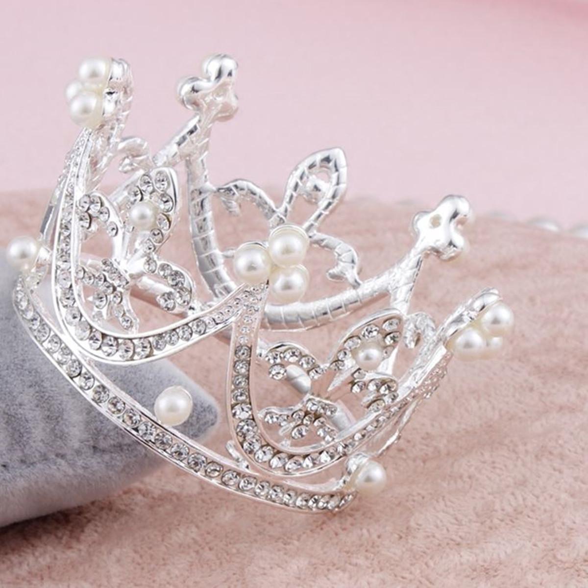 Bride Gold Rhinestone Crystal Coral Shape Crown Princess Queen Tiara Wedding Party Prom Headpiece. Source