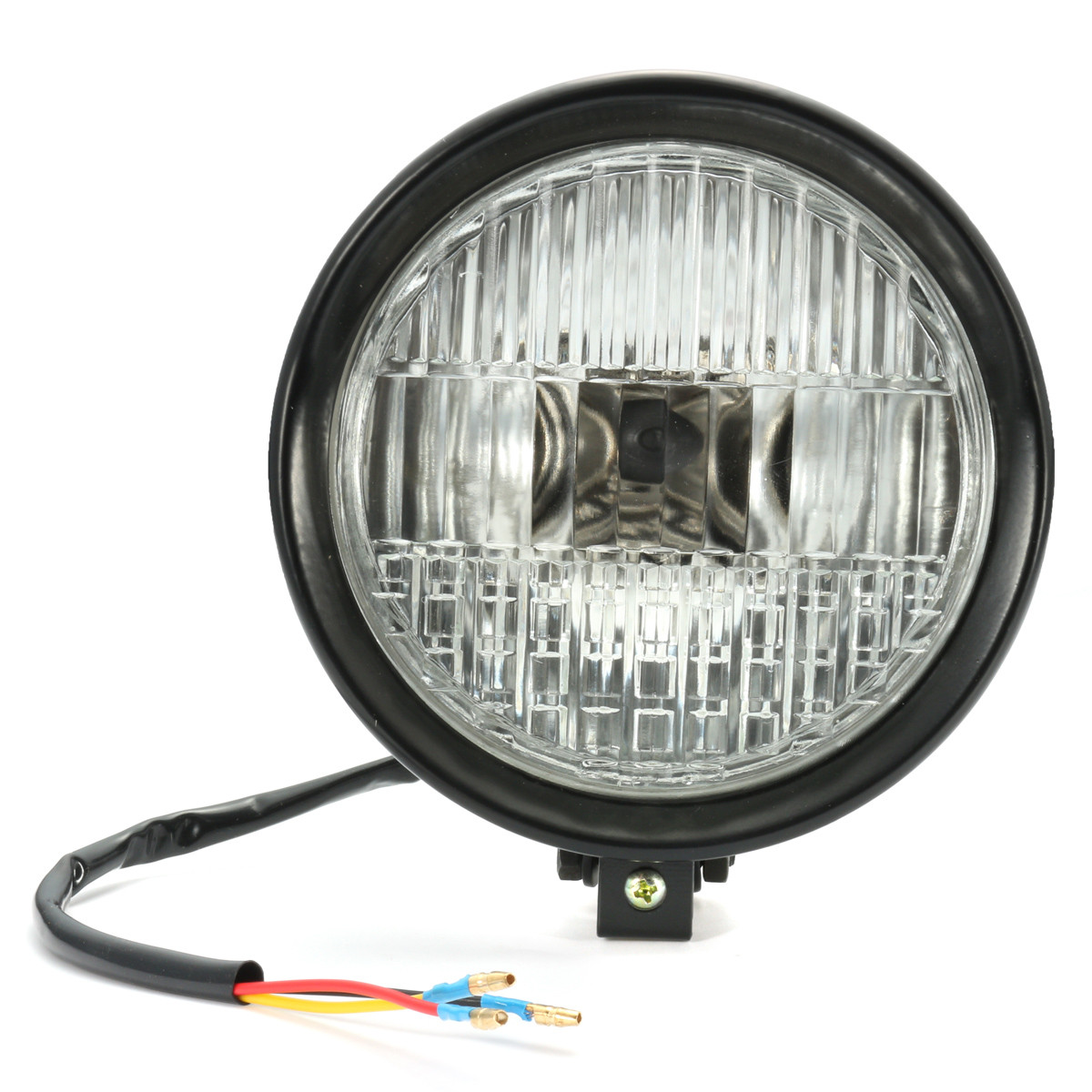 Motorcycle Black 5 INCH Headlight Head Lamp For Harley Bobber Chopper Touring