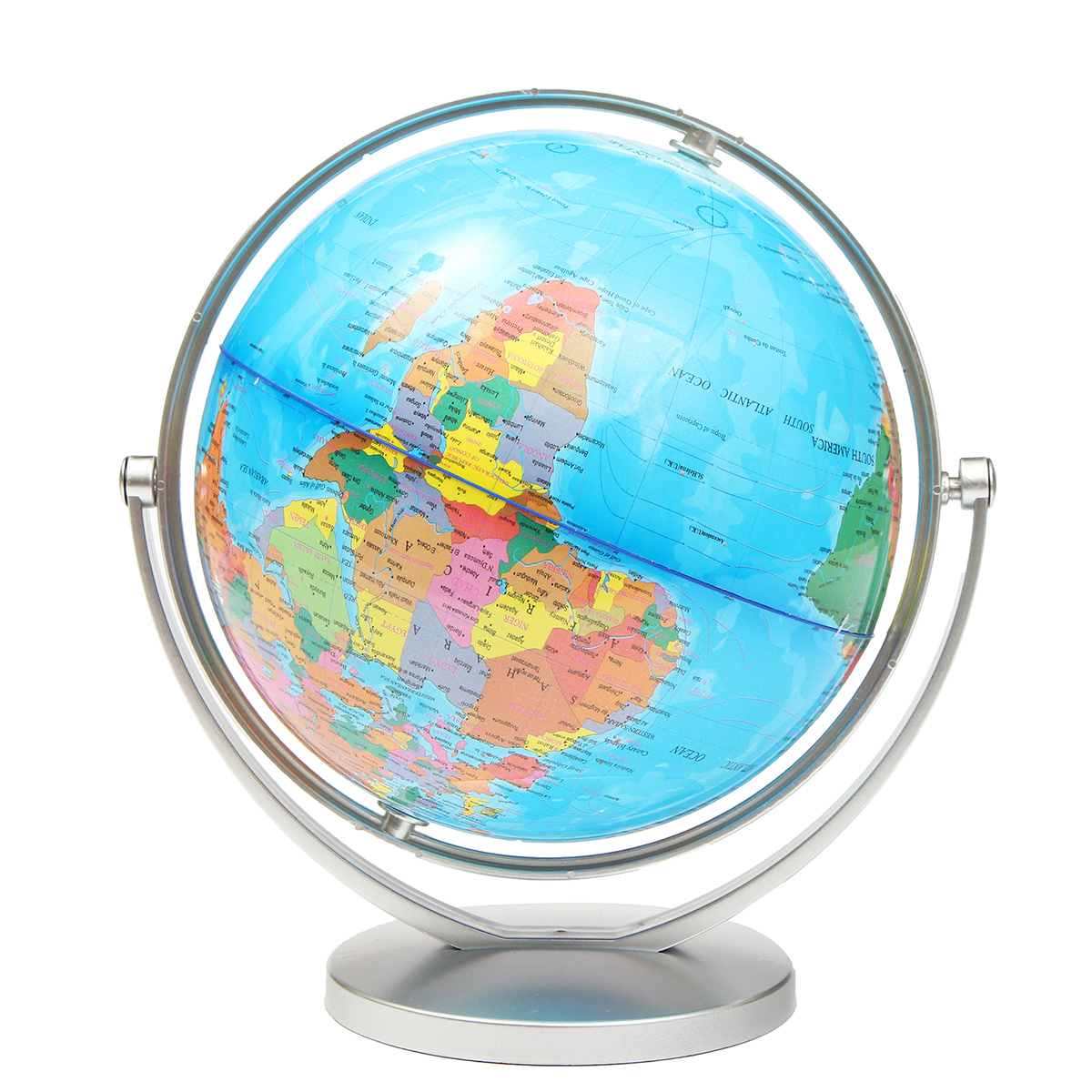 world globe earth ocean atlas map with rotating stand geography educational alex nld. Black Bedroom Furniture Sets. Home Design Ideas
