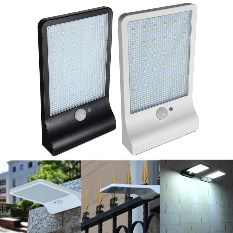 36led solar power pir motion sensor wall light outdoor waterproof 36led solar power pir motion sensor wall light outdoor waterproof garden lamp aloadofball Image collections