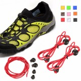 Unisex Elastic No Tie Locking Shoelace Jogging Running Fitnees Sneaker Free Lacing