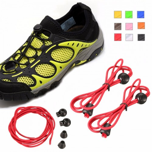 Unisex Elastic No Tie Locking Shoelace Jogging Running Fitnees Sneaker Free Lacing