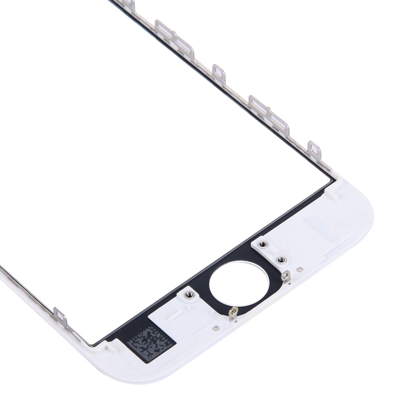 Replacement for iPhone 6s Front Screen Outer Glass Lens with Front LCD Screen Bezel Frame & OCA Optically Clear Adhesive (White)