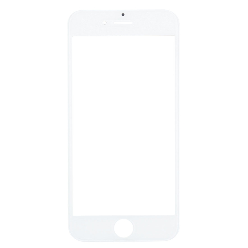Replacement for iPhone 6 Front Screen Outer Glass Lens with Front LCD Screen Bezel Frame & OCA Optically Clear Adhesive (White)