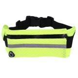 Multifunctional Outdoor Sports Mesh Breathable Fabric Waist Bag with Night Reflective Strip & Earphone Hole for iPhone, Samsung, Sony and other Phones (for Less Than 6 inch) (Green)