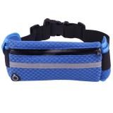 Multifunctional Outdoor Sports Mesh Breathable Fabric Waist Bag with Night Reflective Strip & Earphone Hole for iPhone, Samsung, Sony and other Phones (for Less Than 6 inch) (Blue)