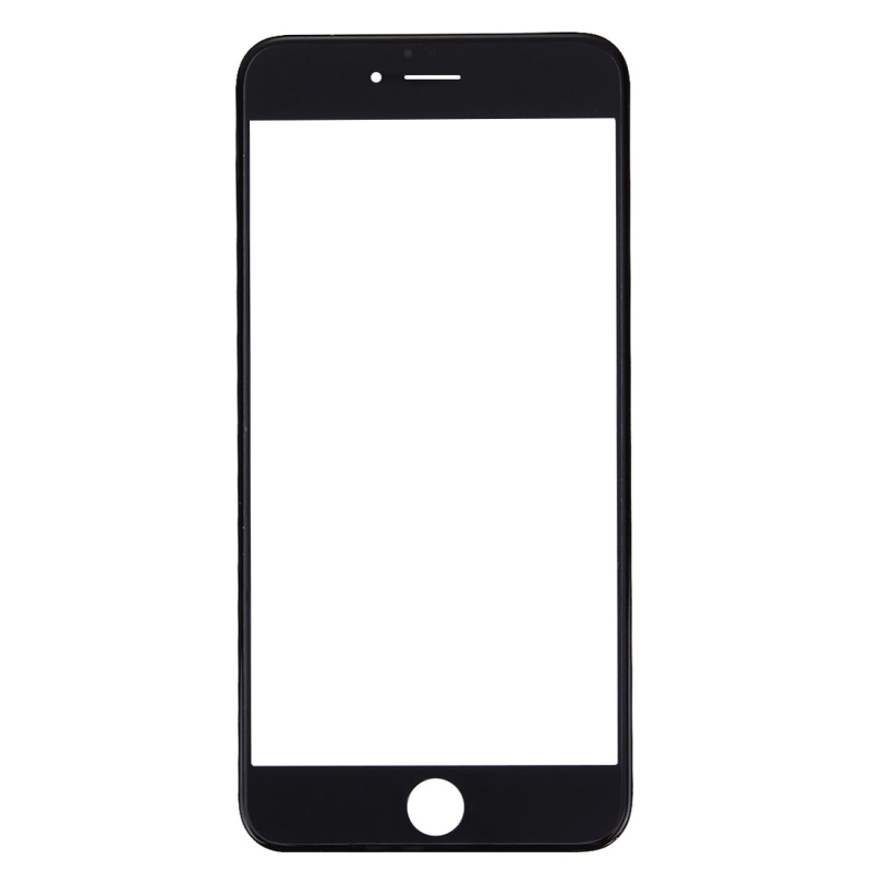 Replacement for iPhone 6s Plus Front Screen Outer Glass Lens with Front LCD Screen Bezel Frame & OCA Optically Clear Adhesive (Black)
