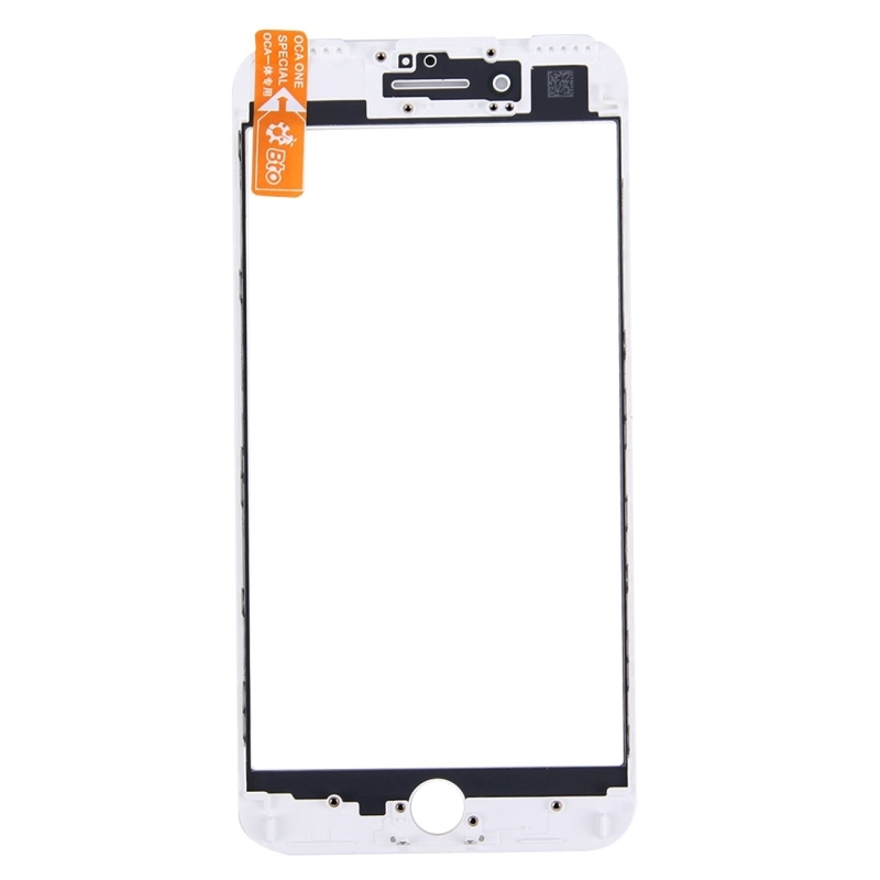 Replacement for iPhone 6s Plus Front Screen Outer Glass Lens with Front LCD Screen Bezel Frame & OCA Optically Clear Adhesive (White)