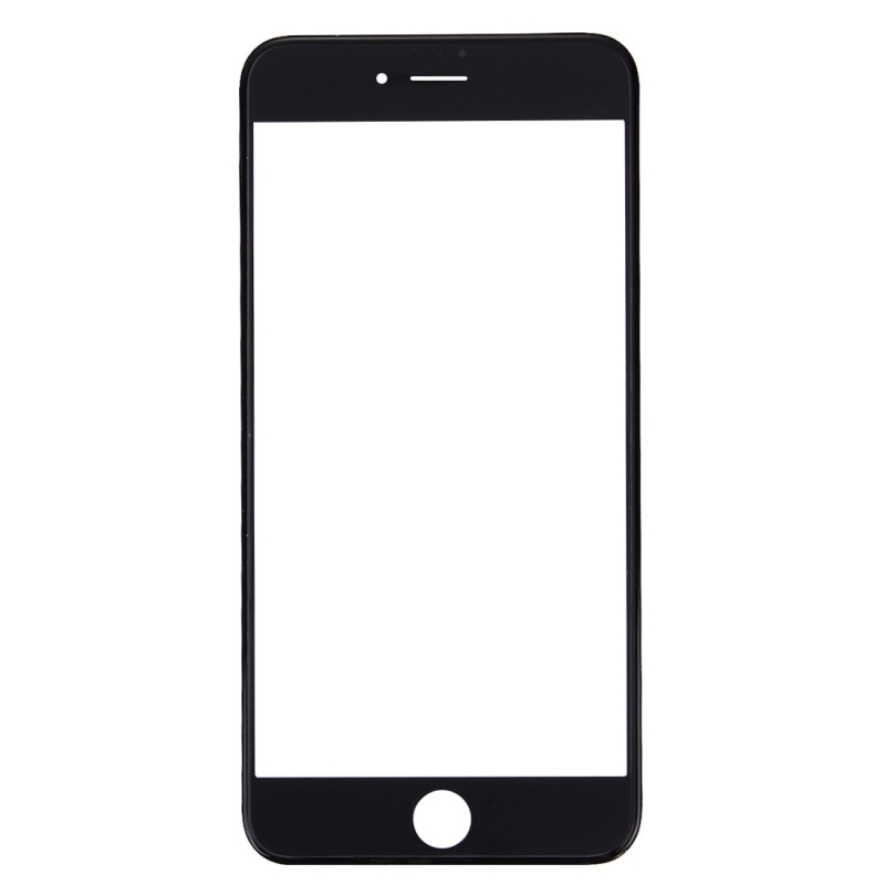 Replacement for iPhone 7 Plus Front Screen Outer Glass Lens with Front LCD Screen Bezel Frame & OCA Optically Clear Adhesive (Black)