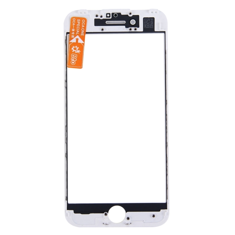 Replacement for iPhone 7 Plus Front Screen Outer Glass Lens with Front LCD Screen Bezel Frame & OCA Optically Clear Adhesive (White)
