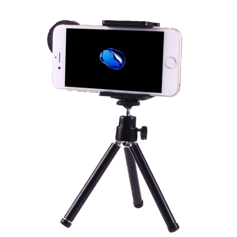 brand new 7b831 728bd 12X Magnification Lens Mobile Phone 3 in 1 Telescope + Tripod Mount +  Mobile Phone Clip for iPhone 7 / iPhone 6 Plus / iPhone 6 / iPhone 5