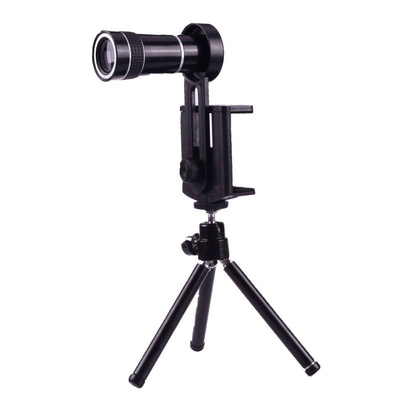 the latest 61991 6f544 10X Magnification Lens Mobile Phone 3 in 1 Telescope + Tripod Mount +  Mobile Phone Clip for iPhone 7 / iPhone 6 Plus / iPhone 6 / iPhone 5 (Black)