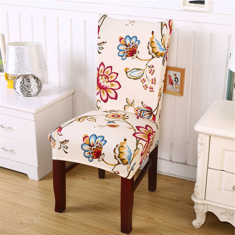 Removable fashion dining chair cover protector seat for 6 dining room chair covers