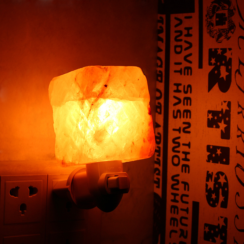 Natural Crystal Himalayan Glow Hand Carved Crystal Salt Night Lamp Wall Light AC110-240V Alex NLD