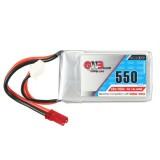 Gaoneng GNB 7.4V 550mAh 2S 80/160C Lipo Battery JST Plug