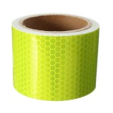 2X10inch Fluorescent Yellow Reflective Safety Warning Conspicuity Tape Film Sticker