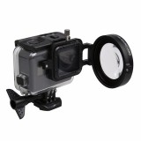 58mm 16X Macro Lens Close-up Filter with Lens Base Adapter Ring for Gopro Hero 5