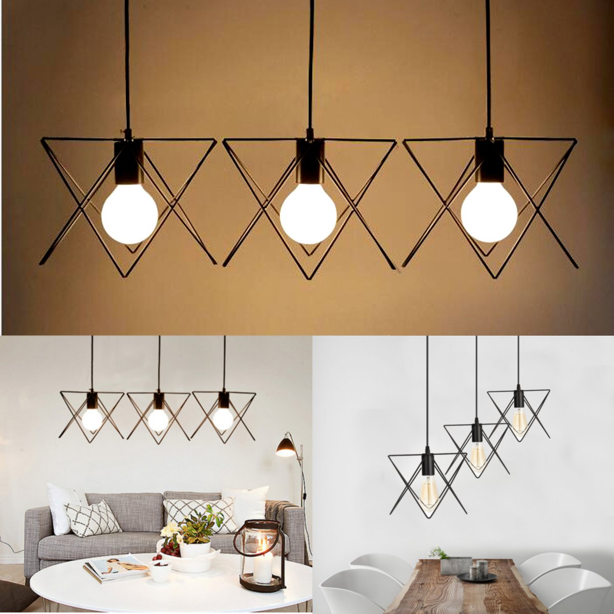 ktv shade led lamp pendant lights bart vintage star art metal lighting deco cube hanging for fixture product lampshade cage light